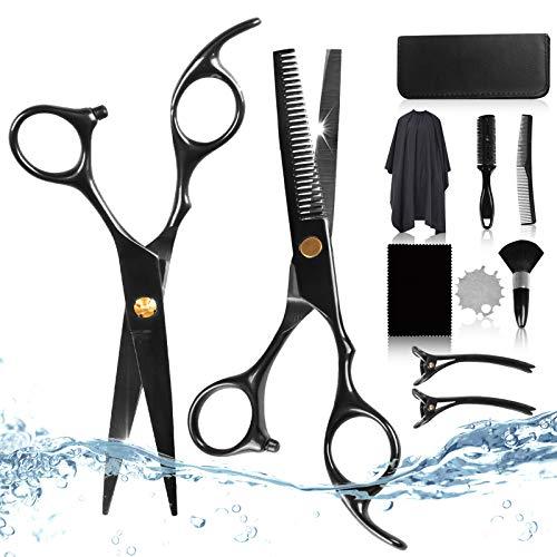 Friseurscheren Haarschneideschere Set[11 PCS], CarDition Schere Haare Schneiden Set mit [profi] [Edelstahl] [Leicht] [Scharf] [effilierschere], Friseur Zubehör für haare,herren,scheren