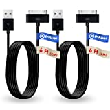 T POWER 2 x pcs 30-pin (6.6 ft Long Cable) Compatible with Samsung Galaxy Tab Note 7.0 7.7 8.9 10.1 Galaxy Tab 7', 8.9',10.1' Tablet 2 Replacement Spare Power Cord Charging Sync Data Cable