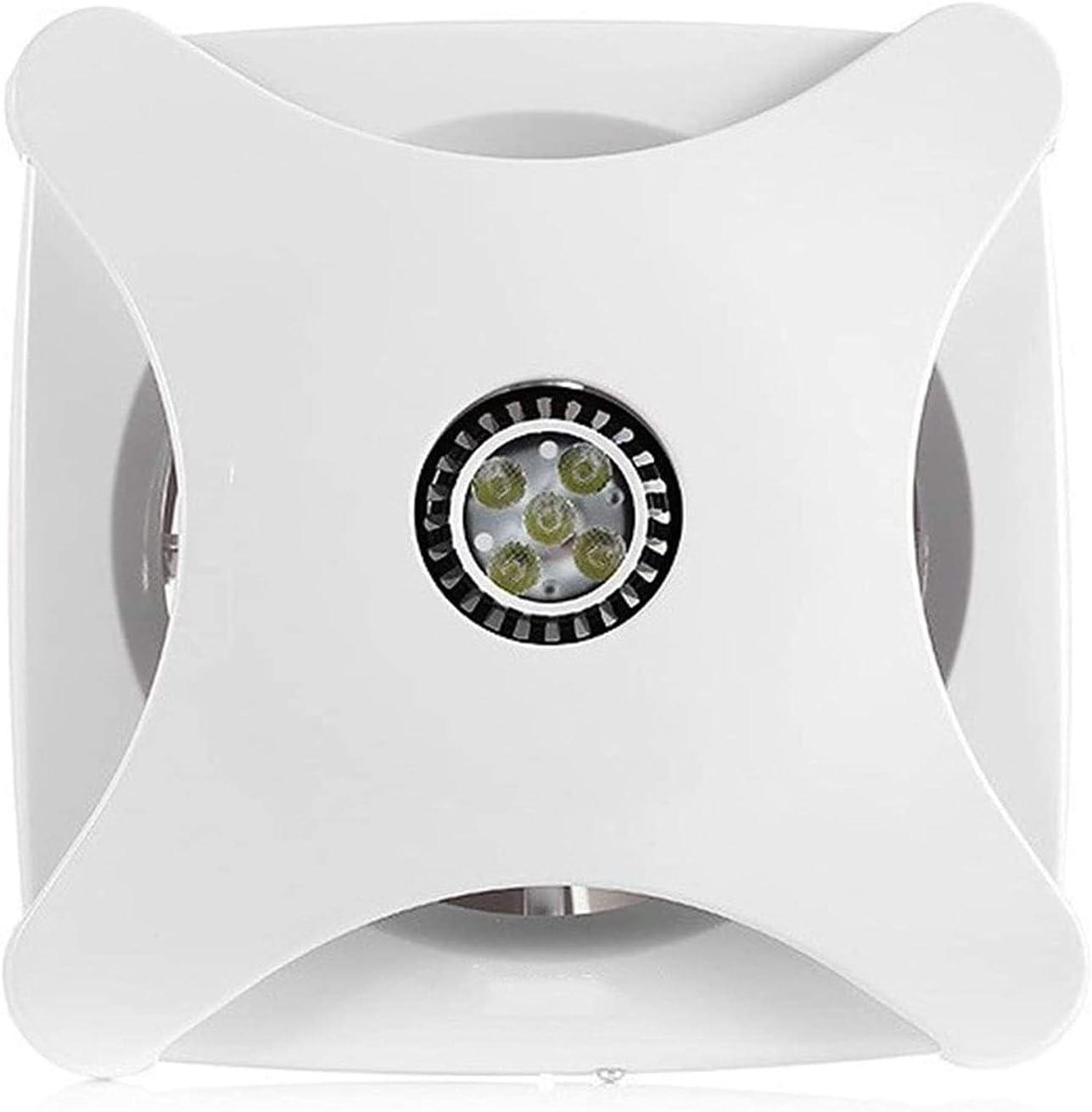 YFGQBCP Extractor de Aire DIRIGIÓ Lámpara de iluminación Baño de Escape Ventilador Ventilador Hogar Potente silencioso Cocina Extracto Ventilador de Escape 6 Pulgadas