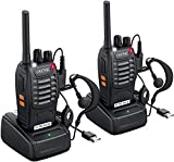 eSynic Walkie Talkies 2 way radio Long Range Walkie Talkie with 2 Pcs Original Earpieces Walky Talky 16CH...