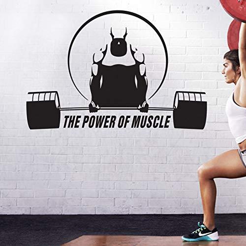 Tianpengyuanshuai Muurtattoo, vinyl, zelfklevend, fitness, crossfit, voor het vinden van Muscle Gym