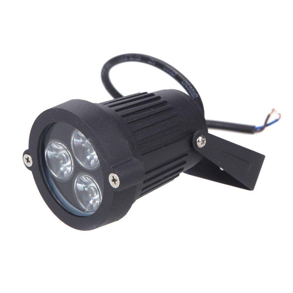 3-LED Foco Lampara - SODIAL(R)3 LED Foco sumergible del jardin / cesped / paisaje luz del piso Lampara impermeable 6W Verde: Amazon.es: Iluminación