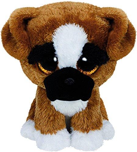 Carletto Ty 36188 Ty 36188-Brutus-Boxer Hund, mit Glitzeraugen, Beanie Boo's, 15 cm