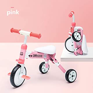 AP.DISHU Strollers Pushchairs, Children's Tricycle, Foldable Stroller, Suitable for 2~6 Years Old Baby, Four Colors Optional,Pink