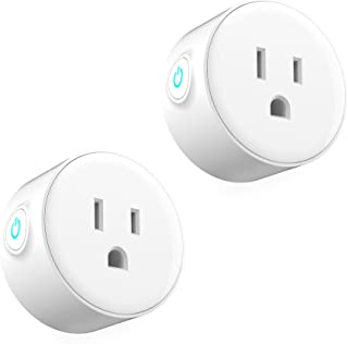 Flexmus 2pcs Mini Smart WiFi Plug,Smart Home Socket,Wireless Timer Switch Outlet Compatible with Alexa,Google Home & IFTTT,Remote Control Your Home Appliances from Anywhere