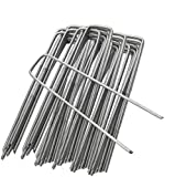 ZIONYA Tent Garden Pegs Galvanized Steel 6 Inch 50 PCS, for Weed Control