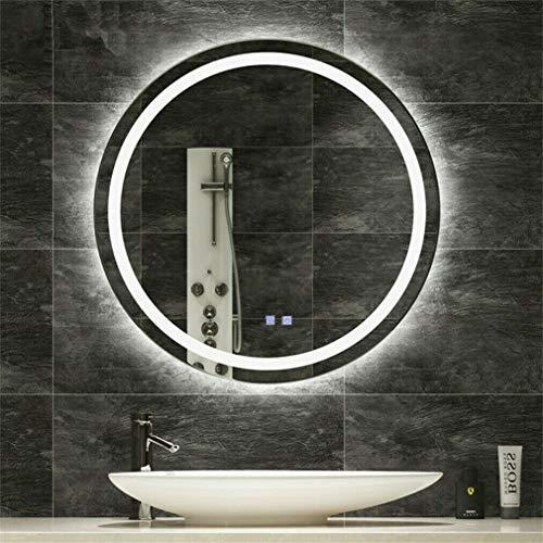 Ronde Waterdichte Verlichte LED Badkamer Spiegel Muur Make-up Spiegels met Demister Pad, 600x600mm moderne Badkamer Spiegel