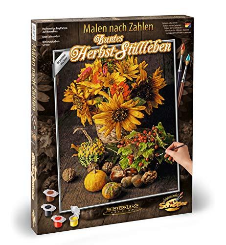 Schipper 609130743 - schilderen op cijfers - bont herfst stilleven - schilderijen voor volwassenen, inclusief penseel en acrylverf, 40 x 50 cm