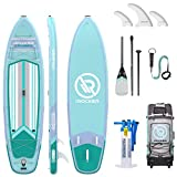 iROCKER All-Around Inflatable Stand Up Paddle Board 11' Long 32' Wide 6' Thick SUP Package