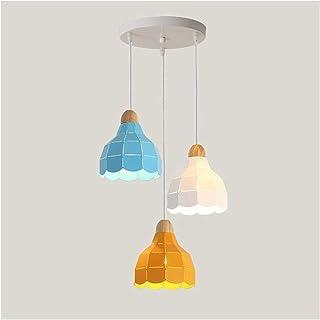 BHDYHM Lámpara colgante artística de hierro con plug-in on Atenuador Cordón de interruptores Estilo Loft minimalista industrial, iluminación Colgante nórdico simple Iluminación de la sala de estar Mes