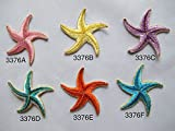 #3376 Pink,Yellow,Purple,Green,Blue Starfish Embroidery Iron On Applique Patch