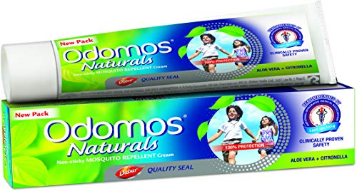 Crema repelente de mosquitos Odomos Naturals, antiadherente, Aloevera + Citronella, 100 g