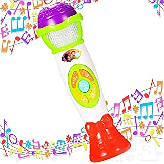 Lumiparty Kids Microphone Karaoke Microphone Machine, Music Microphone,Voice Changing and Recording Microphone with Colorful Lights, Best Toys for Kids Girls Toddlers.(Green)