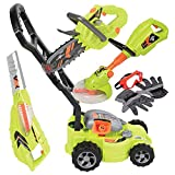 Product Image of the CP Toys Power Garden Tools - Push Mower, Chain Saw, String Trimmer, and Blower