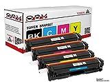 OBV 4 x kompatibler Toner als Ersatz für Canon 045 045y 045c 045m 045bk für Canon I-Sensys LBP-611Cn LBP-612Cdw LBP-613Cdw MF631Cn MF632Cdws MF633Cdw MF634cdw MF635Cx MF636Cdwtt