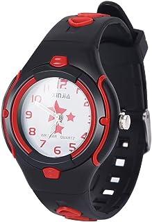 XREXS - Orologio analogico al quarzo, per bambini, con cinturino in plastica morbida, per insegnanti del tempo, per bambin...