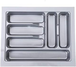 400mm Bandejas de Cubiertos Gaveta de Almacenamiento de Cuchillos y Tenedores Caja para Guardar Organizador de Cocina Casa(Gris)