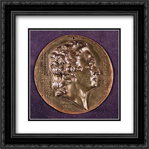 Pierre Jean David d'Angers - 28x28 Black Ornate Framed and Double Matted Art by Museum Prints Titled: Marie-Jean-Antoine-Nicolas de Caritat, Marquis de Condorcet