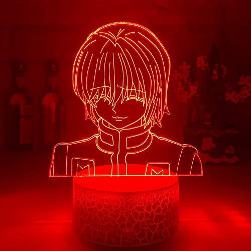 Figura de Kurapika, luz de noche acrílica, regalo de Anime, lámpara Hunter X Hunter para decoración de dormitorio de chico, iluminación para habitación de niños, luz nocturna HxH