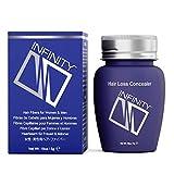 Infinity Hair Fiber - Hair Loss Concealer - Hair Thickening Fiber for Men & Women – Auburn,5g