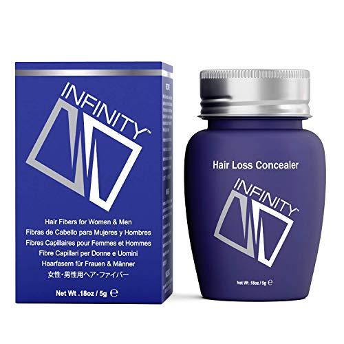 Infinity Hair Fibers for Thinning Hair (AUBURN) For Women & Men - 100% Undetectable Fibers - 5g...