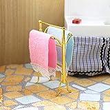Ogquaton 1/6 1/12 Miniatur Bad Handtücher Rack Set Puppenhaus Zubehör Dekor Spielzeug Kreativ und...