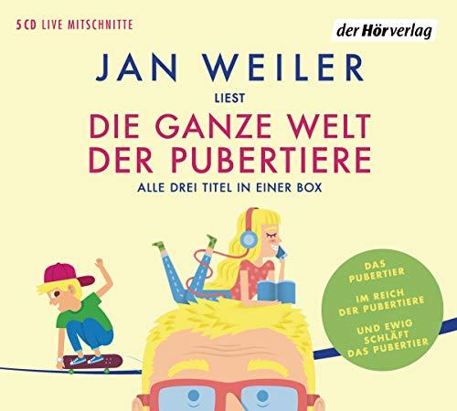 Die ganze Welt der Pubertiere. Drei Titel in einer Box: Das Pubertier. Im Reich der Pubertiere. Und ewig schläft das Pubertier