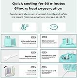 Máquina para hacer helados para el hogar con compresor integrado en el congelador - Máquina pequeña portátil de yogur congelado - Paleta de mezcla desmontable - Fácil operación