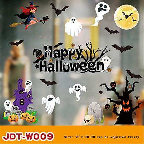 Generice Halloween-Aufkleber, Glas-Aufkleber, Party-Tapete, Dekoration, Szenen-Layout, Fenster-Wandaufkleber