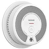 X-Sense Rilevatore di fumo, allarme antincendio con 10 anni di batteria, sensore fotoelettrico e pulsante silenzio, conforme allo standard EN 14604, SD06
