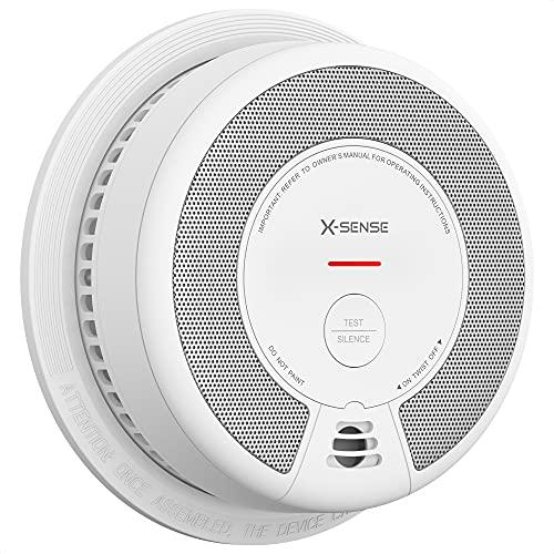 X-Sense Rauchmelder Feuermelder mit 10 Jahren Batterielaufzeit, Rauchwarnmelder mit photoelektrischern Sensor und Stummschalt-Taste, entspricht EN 14604 Standard, SD06, 1 Stück