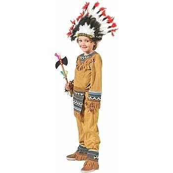 Funny Fashion Disfraz de niño Cherokee Indio (3-4 Anos): Amazon.es ...