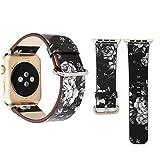 Xyamzhnn Smart Bande Watch Apple Montre Series 3 & 2 & 1 38mm Mode Pastoralisme Style Petit Motif...