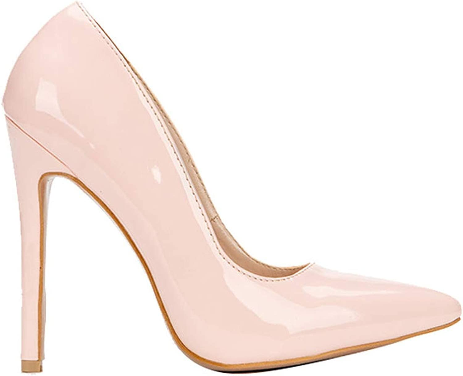 Woman Pumps High Heels Shallow Office Lady Fashion Concise Thin Heels Sexy Women shoes Pink,6.5