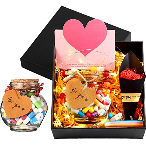 100 Pieces Capsule Letters Message in A Wishing Bottle Friendship Love Half Color Cute Smiling Face...