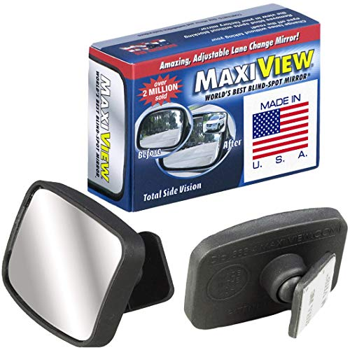 powerful Made in USA, HD 360 ° Metal Lens Blind Spot Mirror