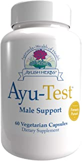 Ayush Herbs Ayu-Test Herbal Supplement, Male Testosterone Support, 60 Capsules
