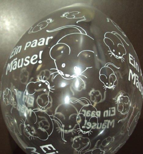 DeCoArt... 10 Latexballons Luftballons Neck Up Geldgeschenk EIN Paar Mäuse naturell ca 13 cm Nicht ballongas geeignet