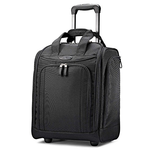Samsonite Upright Wheeled Carry-On Underseater, Black, Large