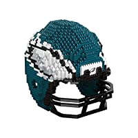 FOCO Philadelphia Eagles NFL 3D BRXLZ Puzzle Replica Helmet Set