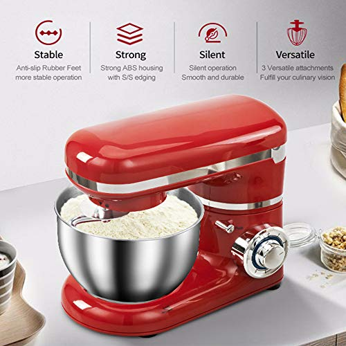 fang zhou High-end Stand Mixer, with Multifunctional Stirrer 4l Bread Kneading Machine Professional Kitchen Electric Mixers Tilt-Head, for Posame Dough Cake