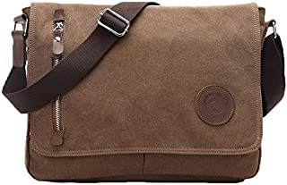 Egoelife  LB-BBPHF18  Unisex Casual High Quality Canvas Satchel Messenger Bag for Traveling Camping - Coffee