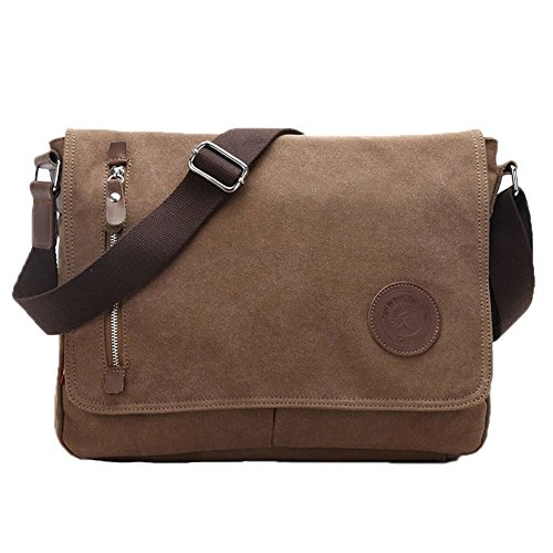 Egoelife Unisex Casual Canvas Satchel Messenger Bag for Traveling Camping