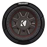 Kicker CompRT Single 6.75 Inch 300 Watt Max 1 Ohm Shallow Slim Car Subwoofer