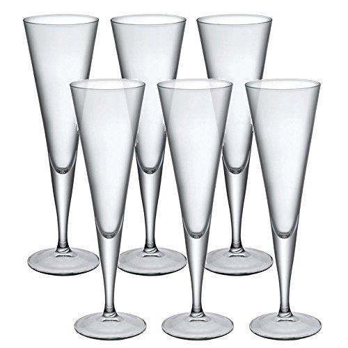 Bormioli Rocco Ypsilon Copas de champán Cristal Cena Gafas Tostadas Vino-Juego de 6