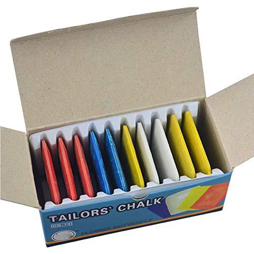 Schneiderkreide, weiß, gelb, rot und blau, Kreide Nähmarkierstift für DIY Handwerk Marker Stifte Nähen Schneidern (4 Stück)