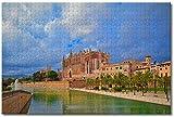 GIRDSS Rompecabezas Adultos 1000 pcs Puzzle Rompecabezas Catedral de Palma de Mallorca, España Regalo para niño dificultad Regalo para