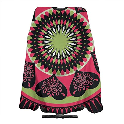 Valentines Mandala Heart Haircut Apron Dyeing Styling Cloth for Adult/Women/Men 55
