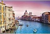 Puzzles (1000 piezas). El Gran Canal italiano, la marca de referencia con una letra que indica el símbolo en la parte posterior, es ideal para reducir la presión de trabajo y mantenerse en silencio.