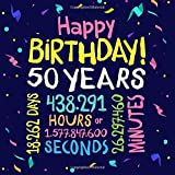 Happy Birthday 50 Years: Guest Book for 50th Birthday Decorations & Birthday Gifts for him or her - 50 Years Party Guestbook with beautiful pages for Messages to treasure and Photos of Guests
